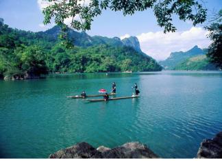 khám phá khu du lịch Hồ ba bể