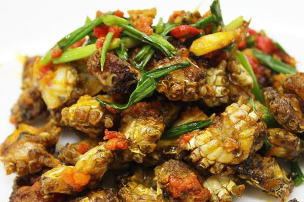Các món ăn về rạm mang hương vị đặc trưng miền biển