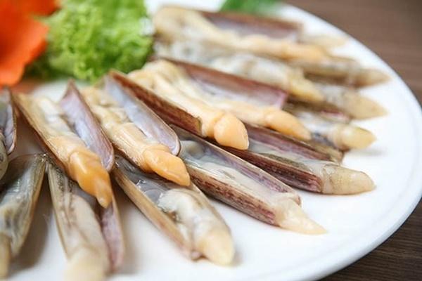 Ốc móng tay món ngon vùng biển Quảng Ninh