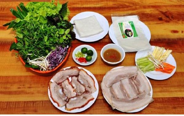 Bánh tráng thịt heo – Món ngon Đà Nẵng nổi tiếng