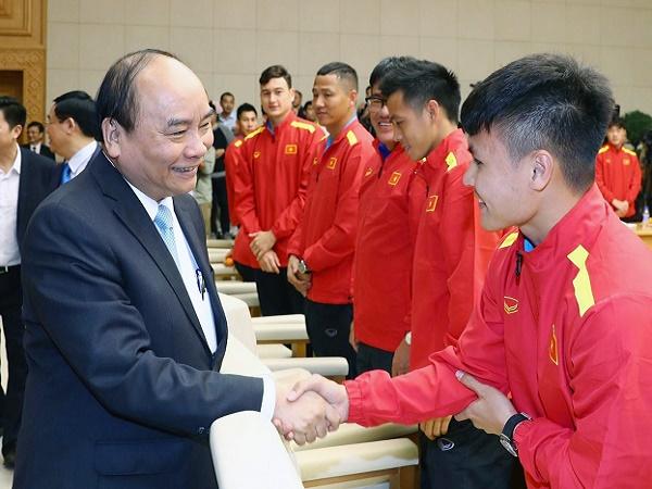 Thủ tướng động viên ĐT Việt Nam trong ngày Quốc khánh 2/9