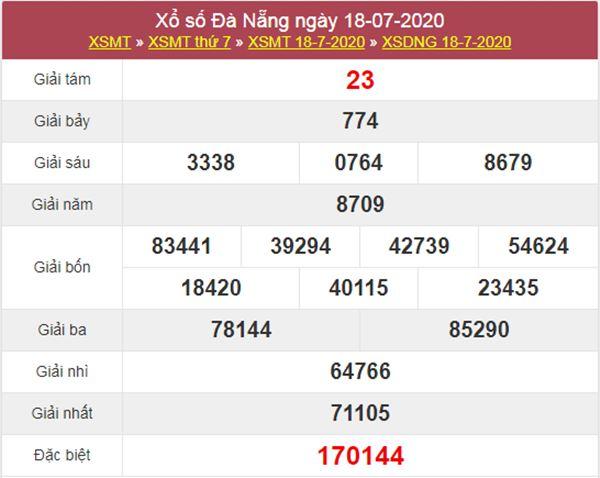 Soi cầu KQXS Đà Nẵng 22/7/2020 VIP thứ 4 hôm nay