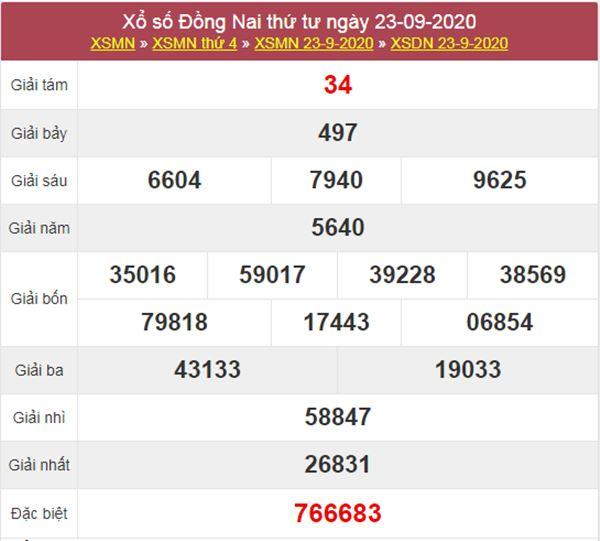 Soi cầu KQXS Đồng Nai 30/9/2020 thứ 4 cùng chuyên gia