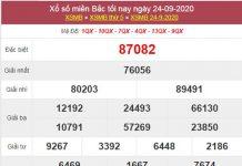 Soi cầu XSMB 25/9/2020 chốt lô số đẹp miền Bắc thứ 6