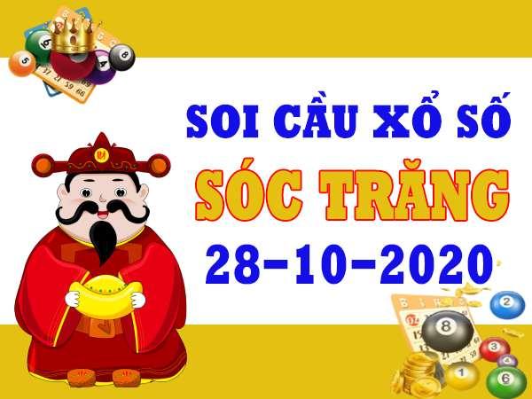Soi cầu XSST ngày 28/10/2020