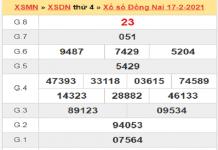 Soi cầu XSDN 24/2/2021