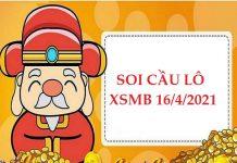 Soi cầu lô VIP KQXSMB 16/4/2021