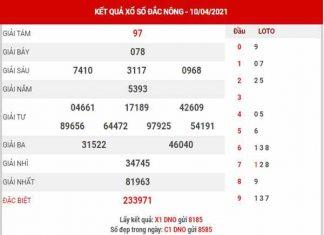 Soi cầu XSDNO ngày 17/4/2021 - Soi cầu KQ Đắk Nông thứ 7 chuẩn xác