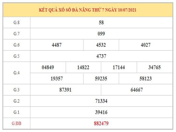 Soi cầu XSDNG ngày 14/7/2021 dựa trên kết quả kì trước