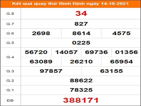 ⭐ Quay thử xổ số Bình Định ngày 14 tháng 10 năm 2021