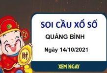 Soi cầu xổ số Quảng Bình ngày 14/10/2021