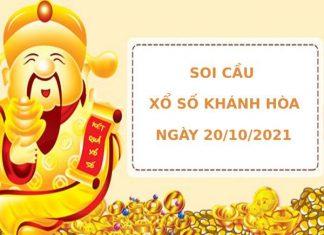 Soi cầu xổ số Khánh Hòa 20/10/2021 thống kê XSKH chính xác