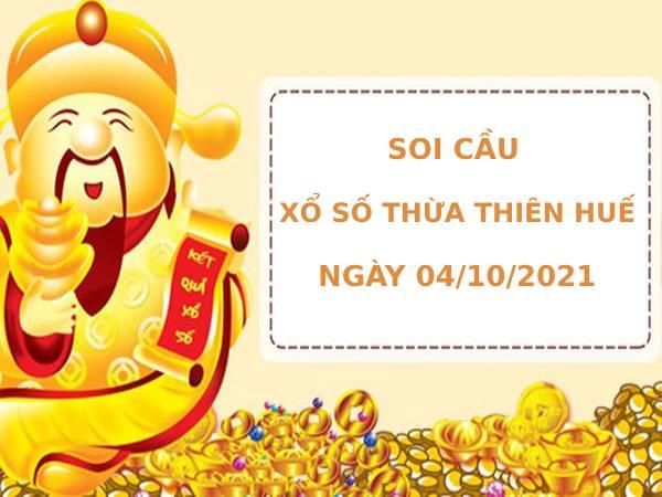 Soi cầu xổ số Thừa Thiên Huế 4/10/2021 thống kê XSTTH chính xác